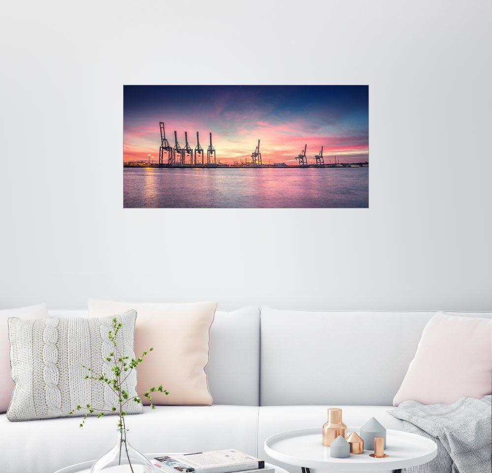 Posterlounge Wandbild - PhotoArt Hartmann »Hamburger Hafen X« | Dekoration > Bilder und Rahmen > Bilder | Holz | Posterlounge