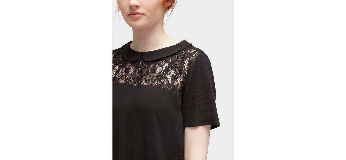 Tom Tailor Denim Shirtbluse Bluse mit Einsatz aus Spitze Shop Online-Verkauf Günstig Kaufen Billig Billigsten Günstig Online Authentisch Empfehlen Online uYondnao