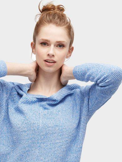Tom Tailor Denim Rundhalspullover Pullover mit Streifen-Struktur