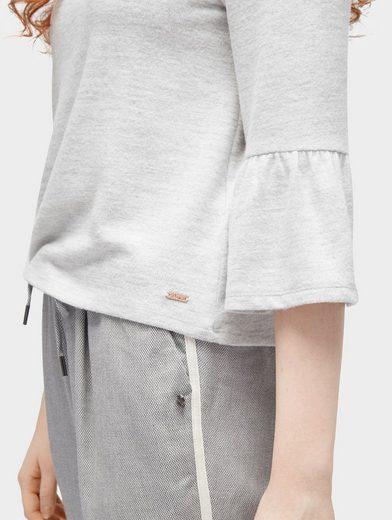 Tom Tailor Denim Sweater 3/4 Arm Shirt mit Volantärmeln
