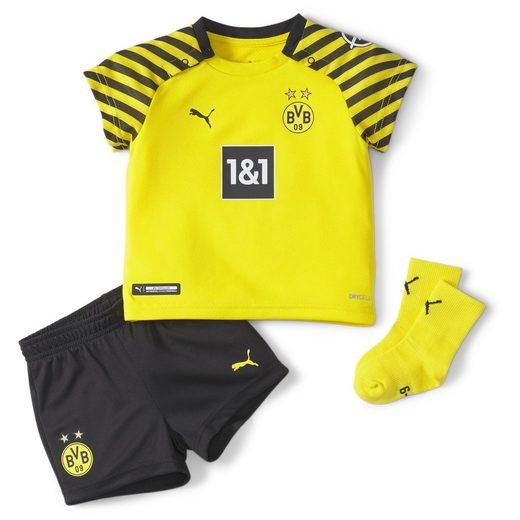 PUMA Fußballtrikot »BVB Heimspiel-Mini-Kit mit Sponsoren für Babys«