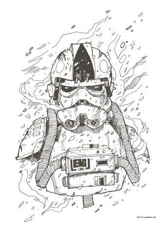 Komar Paveikslas »Star Wars Pilot Drawing«