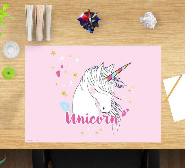 cover-your-desk.de Schreibtischaufsatz »Schreibtischunterlage für Kinder – Unicorn – 60 x 40 cm – aus hochwertigem Vinyl«| (1-St) | Kinderzimmer > Kindertische > Kinderschreibtische | cover-your-desk.de