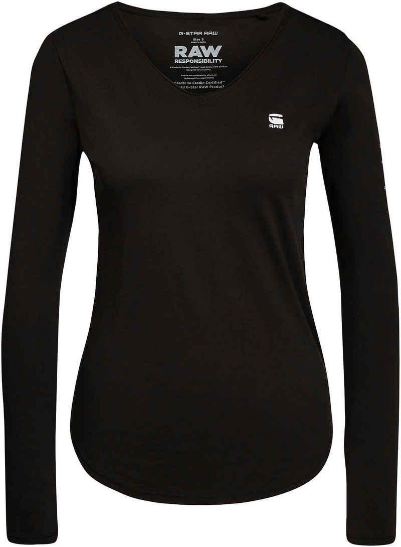 G-Star RAW Langarmshirt »L-Shirt Rolled« mit Rollkanten an den Saumabschlüssen