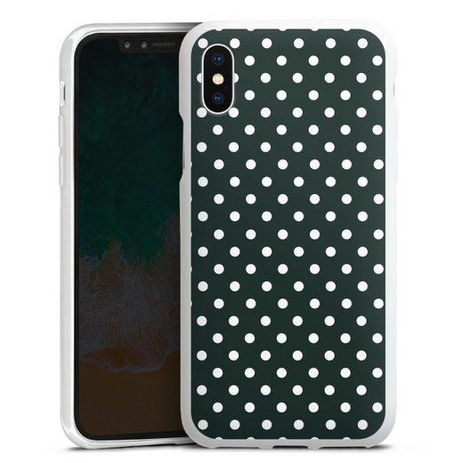 DeinDesign Handyhülle »Polka Dots - schwarz und weiß« Apple iPhone Xs, Hülle Punkte Retro Polka Dots