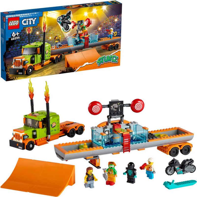 LEGO® Konstruktionsspielsteine »Stuntshow-Truck (60294), LEGO® City Stuntz«, (420 St)