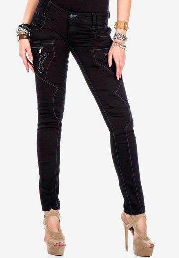Cipo & Baxx Slim-fit-Jeans mit ausgefallenen Ziernähten in Skinny-Fit
