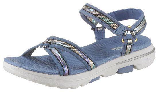 Skechers »Go Walk 5« Sandale mit feinem Metallic-Besatz