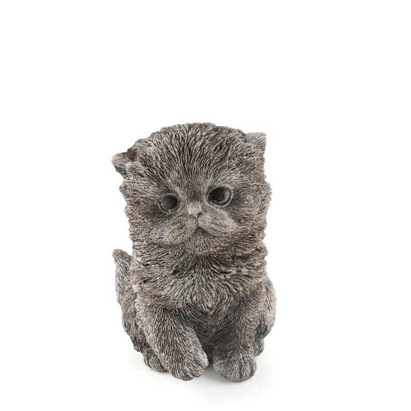 440s Dekoobjekt »440s kleine dicke Katze Antiksteinguss H ca. 15,5«