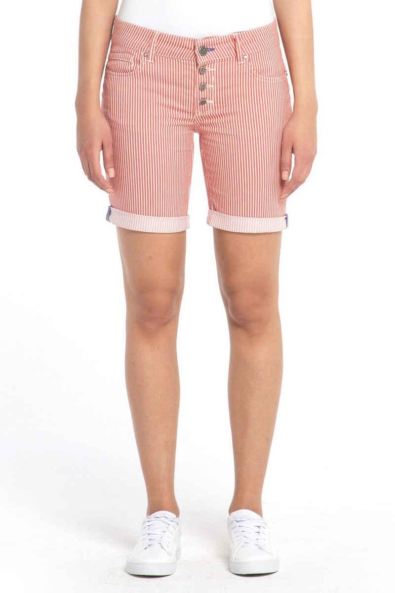 Coccara Shorts »Curly Button Shorts Non Denim«