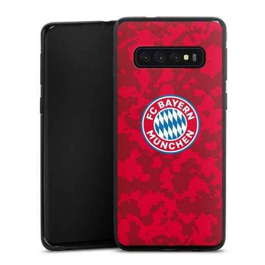 DeinDesign Handyhülle »Camouflage Muster FCB« Samsung Galaxy S10 Plus, Hülle FC Bayern München Camouflage FCB