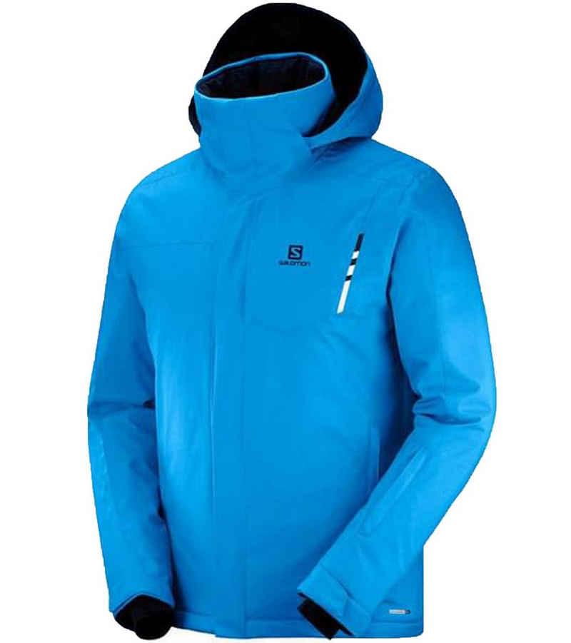 Salomon Skijacke »Salomon Stormpunch Ski-Jacke funktionelle Winter-Jacke für Herren Snowboardjacke Schnee-Jacke Blau«