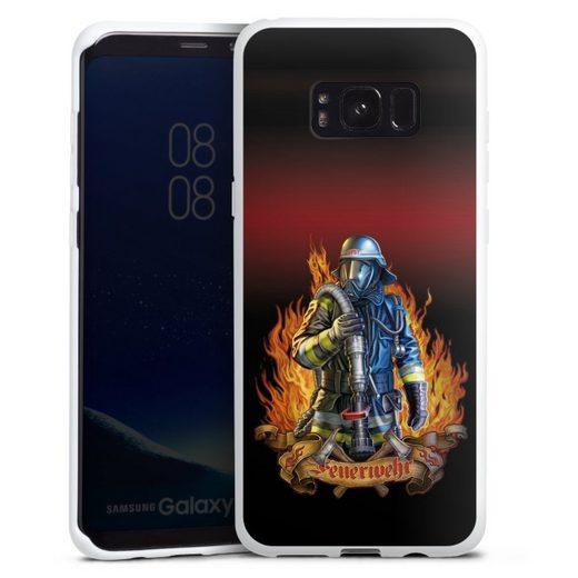 DeinDesign Handyhülle »Firefighter« Samsung Galaxy S8 Plus, Hülle Feuerwehrmann Feuerwehr Beruf