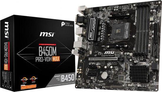MSI »B450M PRO-VDH MAX« Mainboard