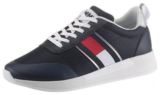 Tommy Jeans »TECHNICAL FLEXI SNEAKER« Keilsneaker mit Kontrastbesatz an der Ferse