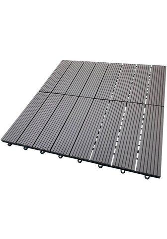 HOME DELUXE Terrassenplatten 30x30 cm 33-St. WPC-F...