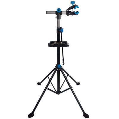 Yaheetech Fahrrad-Montageständer, Reparaturständer 360 Grad Drebar, Klappbar und Höhenverstellbar, mit magnetischer Werkzeugschale, 50 kg Belastbar