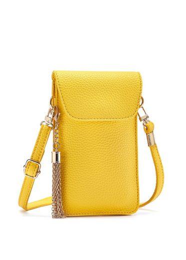 LASCANA Umhängetasche, modische Minibag 'Handytasche' mit praktischem Sichtfenster