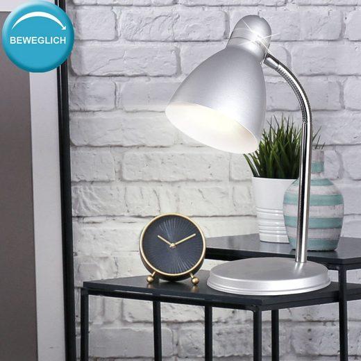 Nordlux Tischleuchte, Schreib Tisch Leuchte Arbeits Zimmer Beleuchtung Wohn Zimmer Flexo Lese Lampe grau Nordlux 73065029