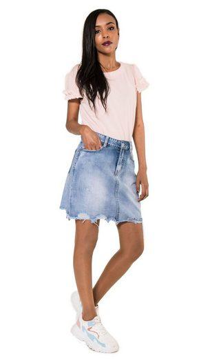 Nina Carter Sommerrock »3244« Damen Destroyed Mini Jeansrock