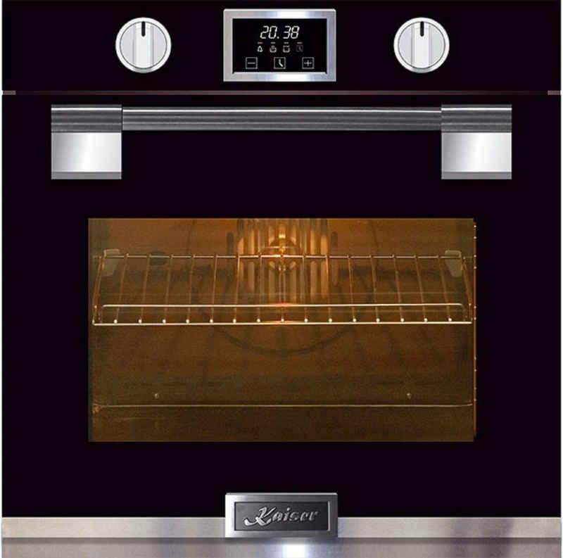 Kaiser Küchengeräte Pyrolyse Backofen »EH 6338 S/7«, Einbau Backofen, massives Metall, 79L,Glastür mit SOFTCLOSE, 11 Funktionen,Heißluftsystem, Infrarotgrill,Intelligent Sysytem