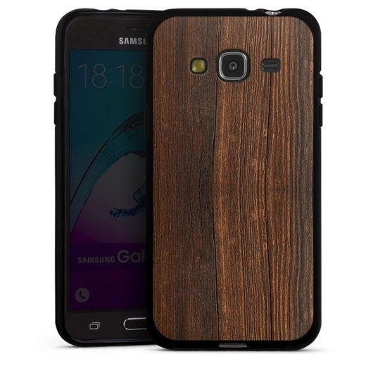 DeinDesign Handyhülle »Nußbaum Holzlook« Samsung Galaxy J3 (2016), Hülle Nussbaum Holzoptik Holz