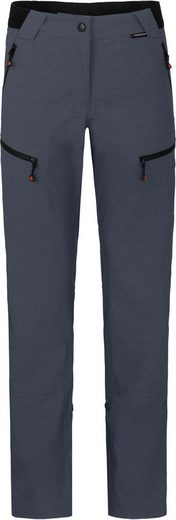 Bergson Outdoorhose »PORI« Damen Wanderhose, robust, elastisch, Kurzgrößen, grau/blau