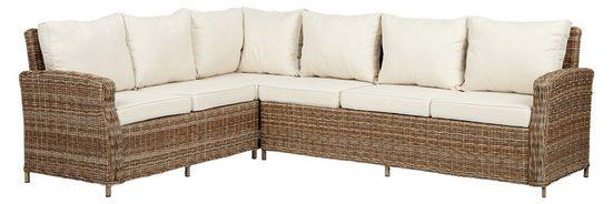 ebuy24 Loungesofa »Gram Gartensofa Eck, inkl. Sitzkissen, natur und o«