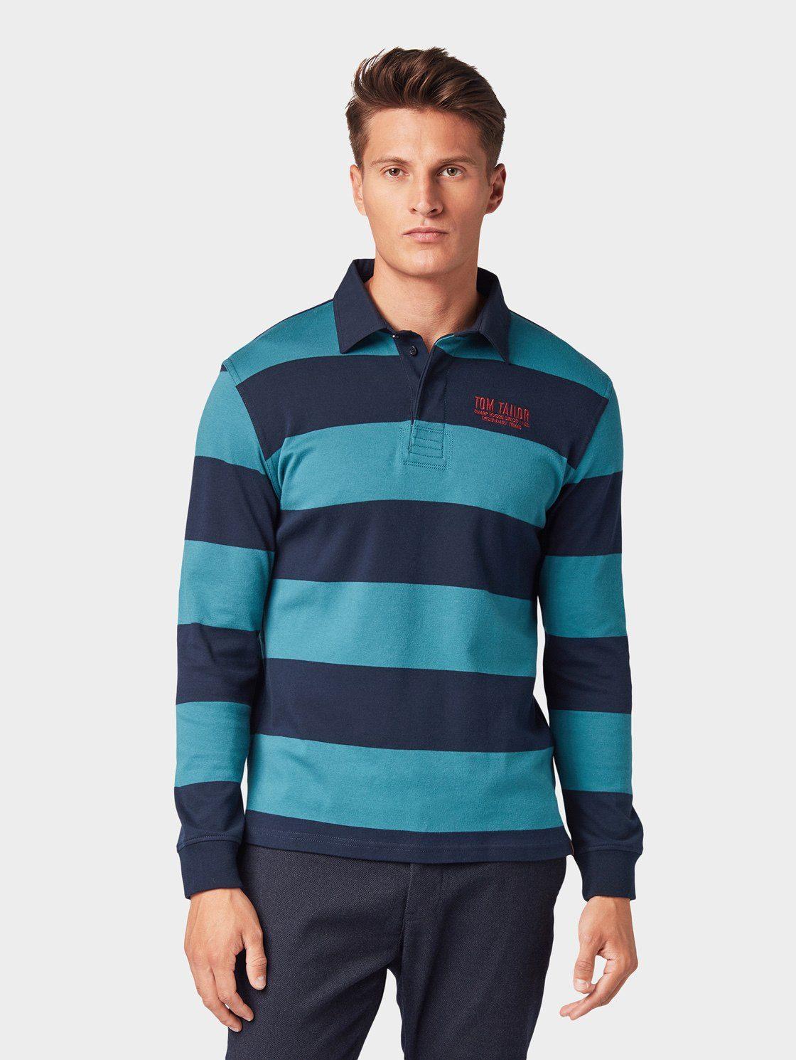 TOM TAILOR Poloshirt »Gestreiftes Langarm Poloshirt« online kaufen | OTTO