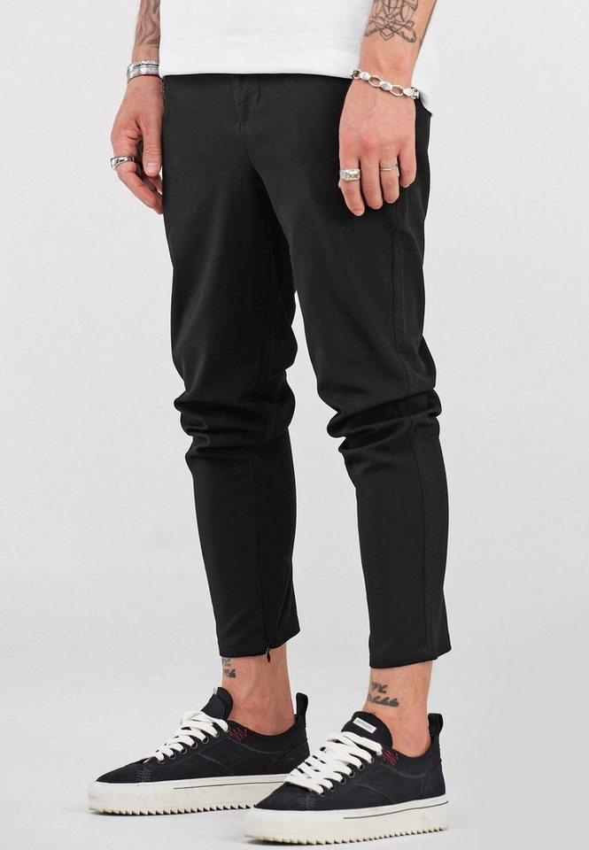 behype -  Chinohose »B-KAY« mit Reißverschluss am Bein