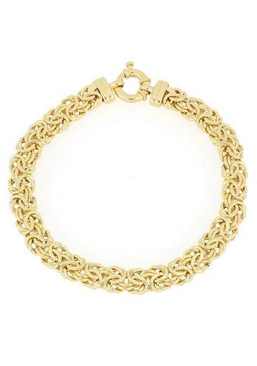 Firetti Goldarmband »Königskettengliederung, 7,5 mm breit, halbmassiv und in Glanzoptik«