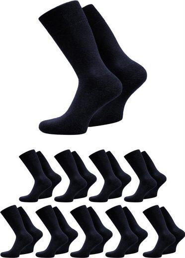 normani Basicsocken »10 Paar Herrensocken Schwarz« (10 Paar) hygienisch, geruchshemmend und atmungsaktiv, ohne einschneidendes Bündchen