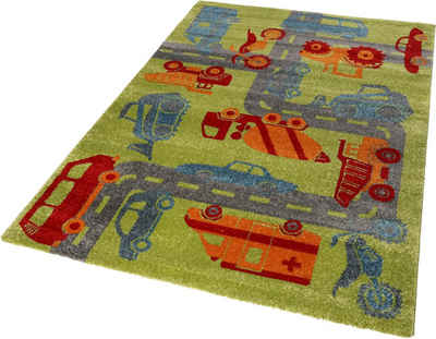 Kinderteppich »Traffic«, Sigikid, rechteckig, Höhe 13 mm, Kinder Straßen-Spielteppich, Kurzflor