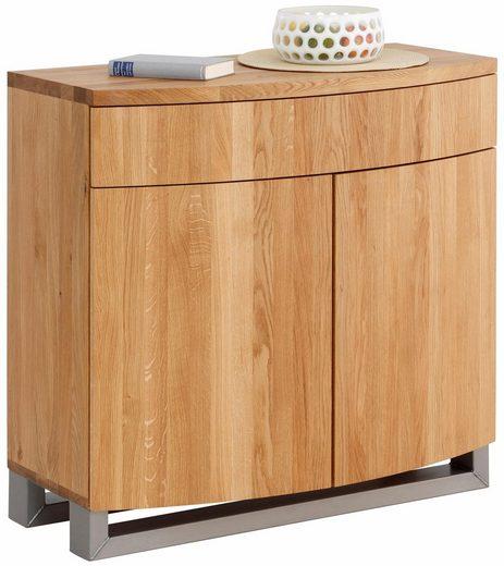 Premium collection by Home affaire Highboard »Moora«, Breite 160 cm aus massiver Eiche in außergewöhnlichen Look