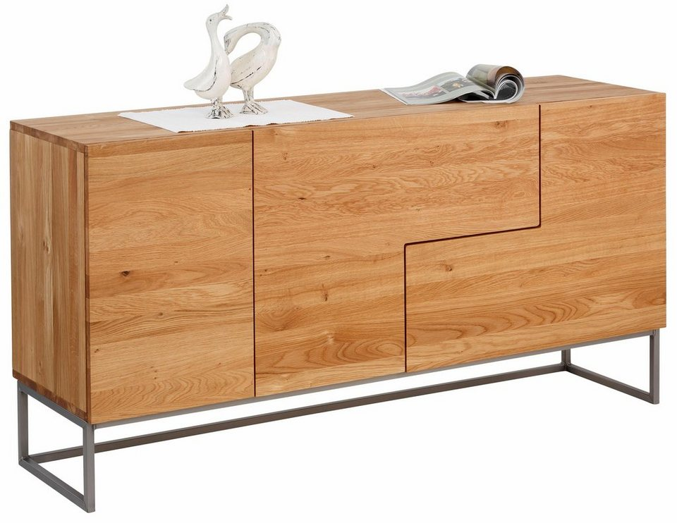 home affaire sideboard svear breite 160 cm aus massiver eiche online kaufen otto. Black Bedroom Furniture Sets. Home Design Ideas