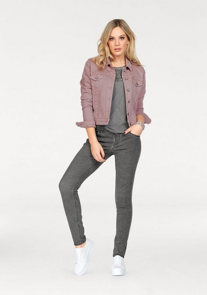 ZABAIONE Skinny-fit-Jeans »KIMMY« mit Pailletten