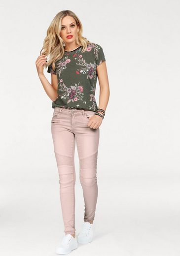 HaILYS T-Shirt STINA, Mit floralem Print
