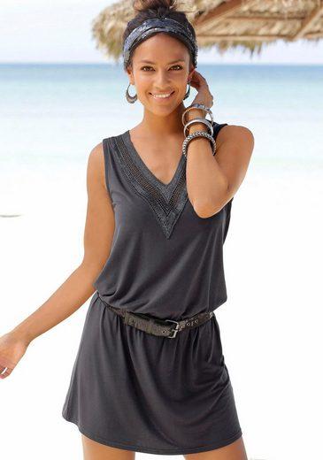LASCANA Strandkleid mit Häkelspitze am Ausschnitt