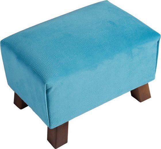 Max Winzer® Fußhocker »Footstool«, mit Reptiliendruck