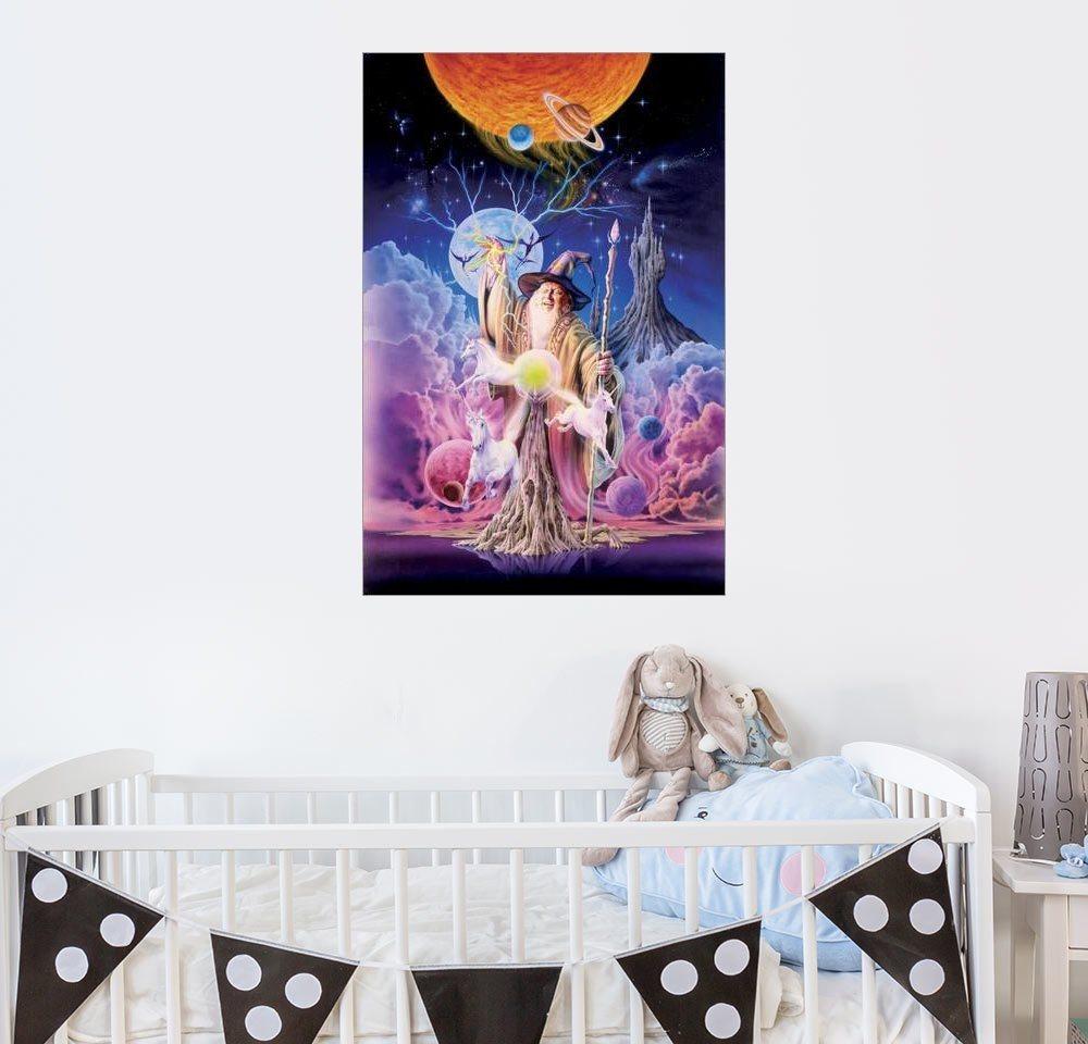 Posterlounge Wandbild - Robin Koni »Zauberer der Erschaffung« | Dekoration > Bilder und Rahmen > Bilder | Holz | Posterlounge