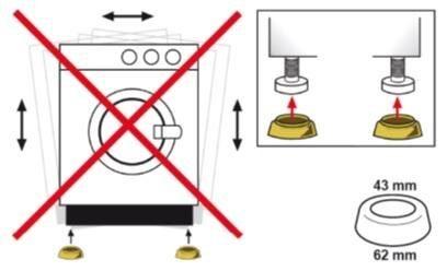 Eyckhaus kitchen & cooking Anti-Rutschfüße für Waschmaschinen