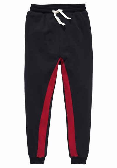 a8795a80cad453 Arizona Sweathose mit Nahttaschen und kontrastfarbenem Einsatz an den Beinen
