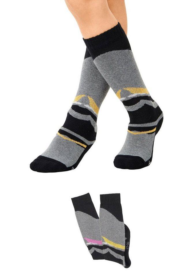 CFL Skisocken (2 Paar) mit Plüsch | Sportbekleidung > Funktionswäsche > Skisocken | Bunt | CFL