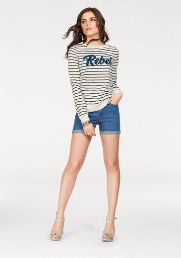 Vero Moda Sweatshirt GIRLS, mit Pailletten-Schriftzug