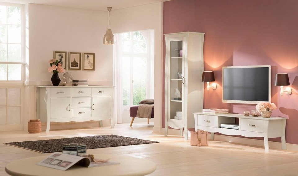 home affaire tv lowboard prego mit stilvollen porzellangriffen online kaufen otto. Black Bedroom Furniture Sets. Home Design Ideas