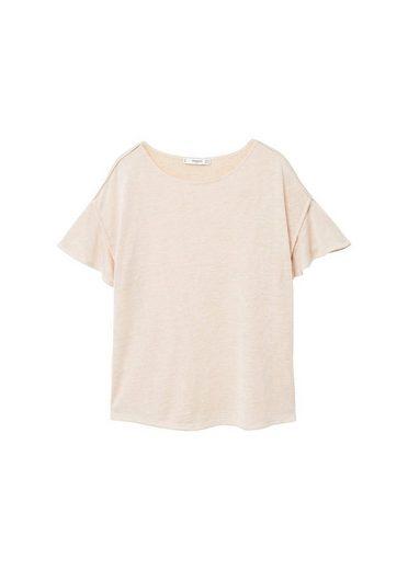 MANGO T-Shirt mit Volantärmel