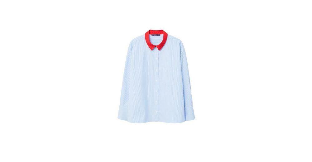 VIOLETA by Mango Bluse mit Kontrastkragen Online-Bilder Verkauf Ebay Günstiger Preis Billig 2018 Neu Neue Stile Outlet Besten Großhandel QumGYEerG