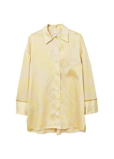 MANGO Gemustertes Hemd in Pyjama-Optik