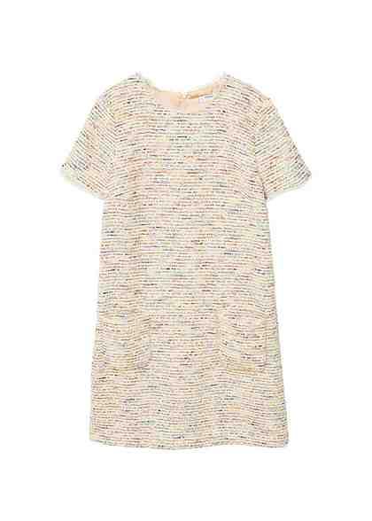 MANGO Tweed-Kleid
