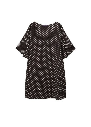 Violeta By Mango Volant Dress With Polkadot